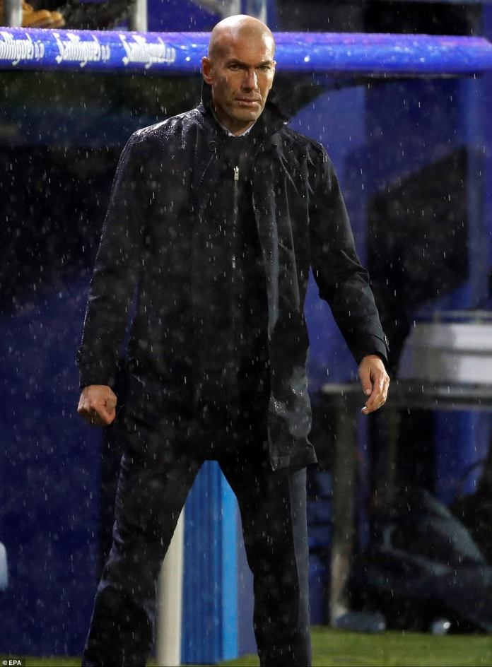 Zinedine Zidane made three changes to the side that demolished Galatasary 6-0 in the Champions League