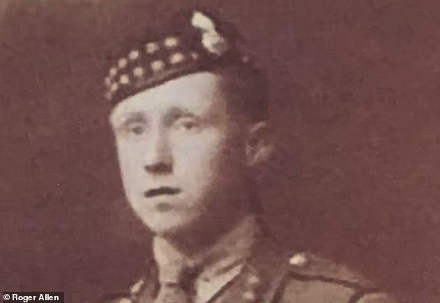 The enemy had crawled up to 30 meters from the British firing line. Boughey (above) rushed alone with bombs, up to the enemy, doing a great run and causing the surrender of a party of 30, according to a report recorded in the London Gazette