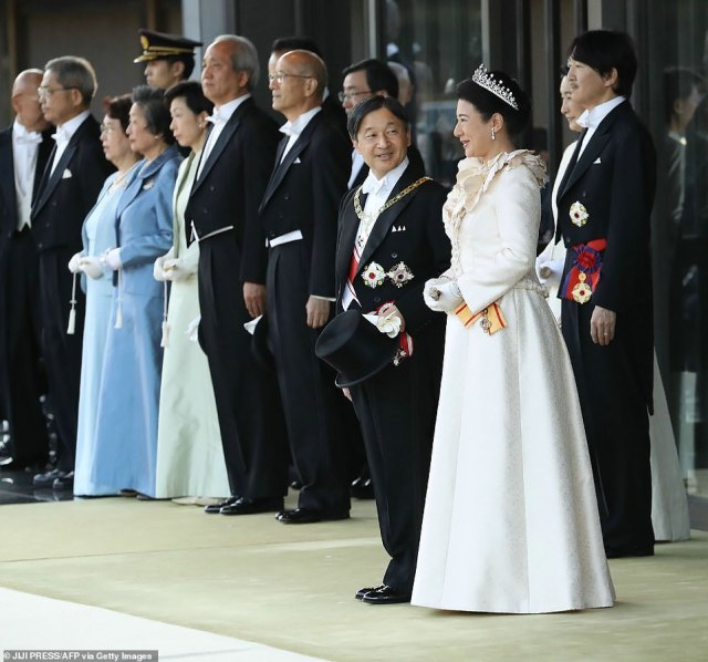 Spirits seemed high, despite the event being rescheduled from October due to a deadly typhoon, as the royal couple were pictured smiling mid-conversation on November 10