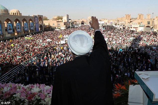President Hassan Rouhani announced the discovery of a massive new oil field during a speech in the central city of Yazd