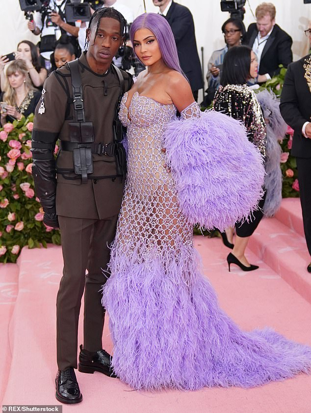 Good terms: Meanwhile, Us Weekly reported ex Kylie Jenner's plans to attend the festival: 'Kylie is planning to go without Stormi and then Stormi is meeting them [afterward]'