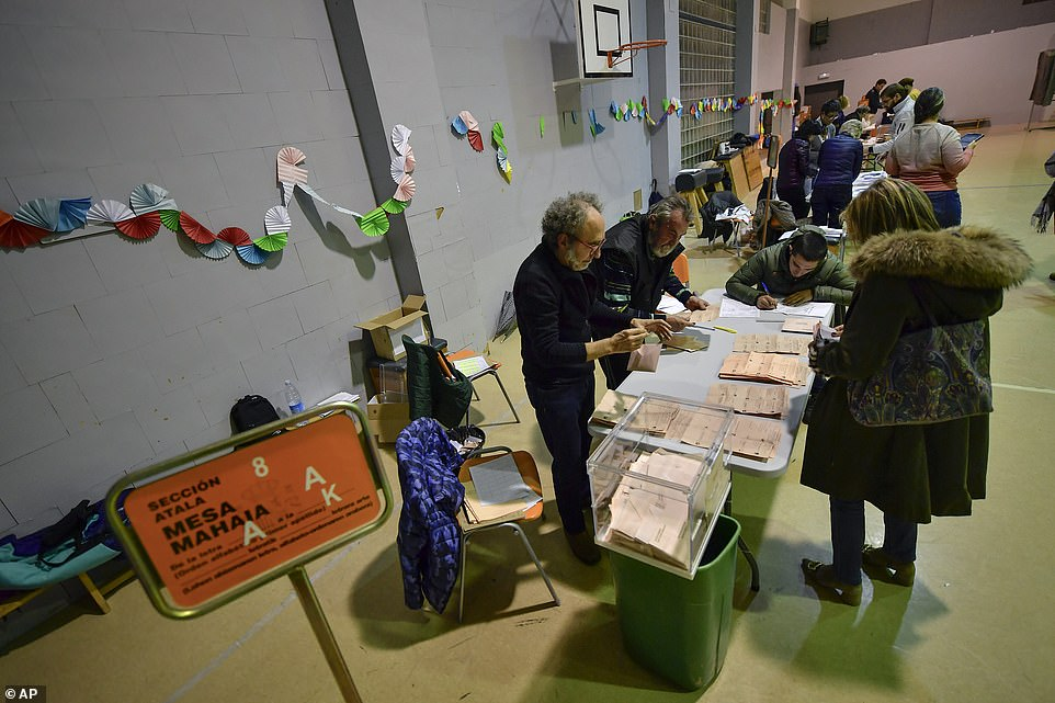 As of 6pm, 56.86 per cent of the country's 37 million eligible voters had cast their ballots, down from 60.74 per cent at the same time in the April 28 election