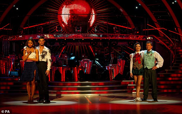 Back again: Last week, Mike faced the dance off for a third time, where he triumphed over Viscountess Emma Weymouth and her partner Aljaz Skorjanec