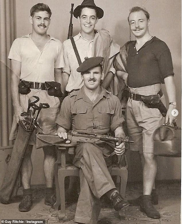 Amazing:The two men, Captain John Ritchie (right) and Captain James Grant (centre), were stationed in Singapore as part of the Scottish Highlanders