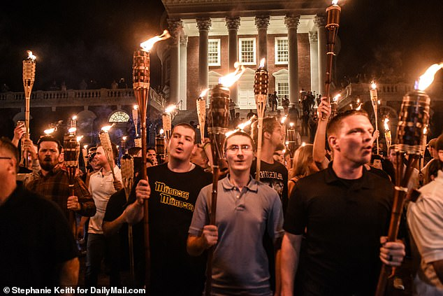 The Boston Globe has reported that Fuentes participated in the 2017 'Unite the Right' white nationalist rally in Charlottesville, Virginia that turned violent and left a counterprotester dead
