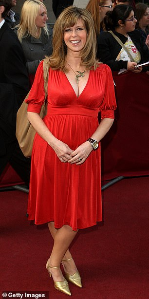 Lady in red:She has already shed two stone by ditching sugar and caffeine ahead of her stint Down Under (pictured in2009)