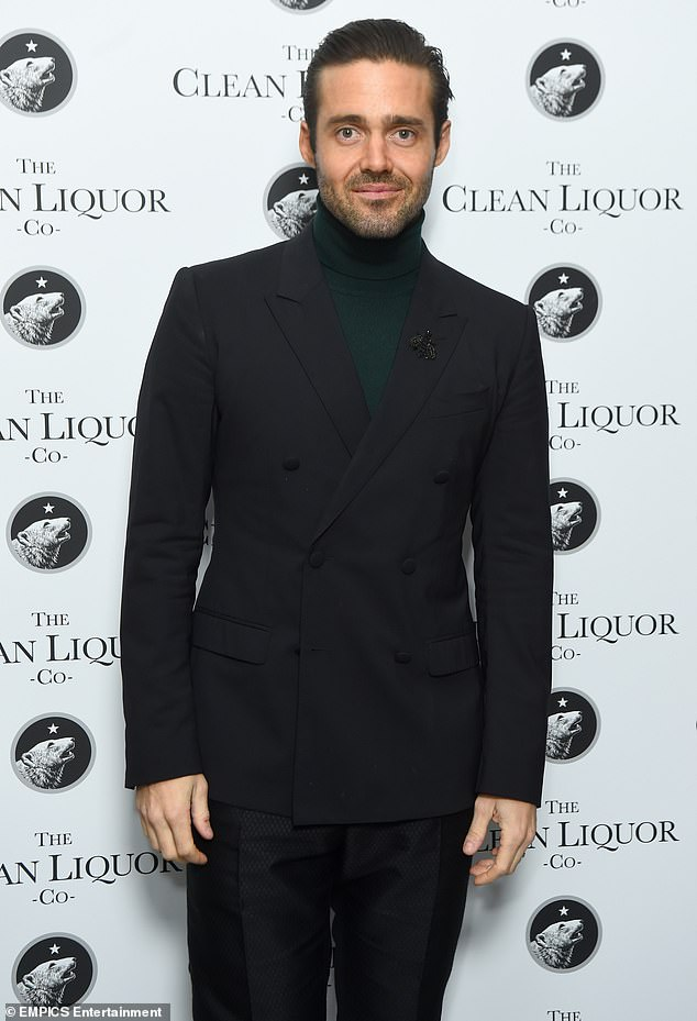 Opening up:Spencer previously insisted he had to give up alcohol after his drinking habits became 'unsustainable' as he prepared to marry Vogue (pictured in November 2019)