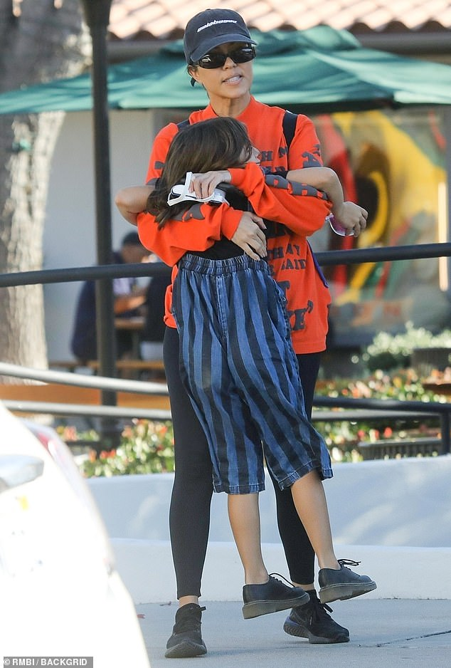 Girls' Day: Kourtney Kardashian saw a heavy sport on Sunday when they went out on a mother's / daughter's lunch at Taverna Tony in Malibu
