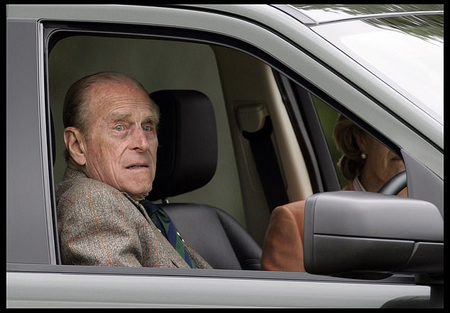 Imagine if that crash had been fatal. Suppose Philip had died or the infant had been killed. More than 60 years of devoted public service would have ended in ignominious tragedy, writes royal biographer A. N. WILSON. Pictured:Prince Philip, 87, sitting in his car with Lady Brabourne