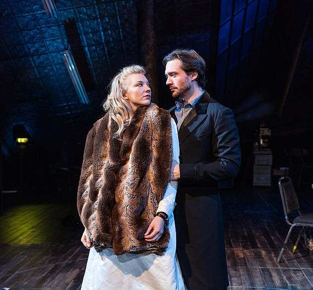 Started out as friends and co-stars: Natalie and David met when they starred together in the play Venus In Fur, which ran in in London's West End from October to December 2017 (pictured)