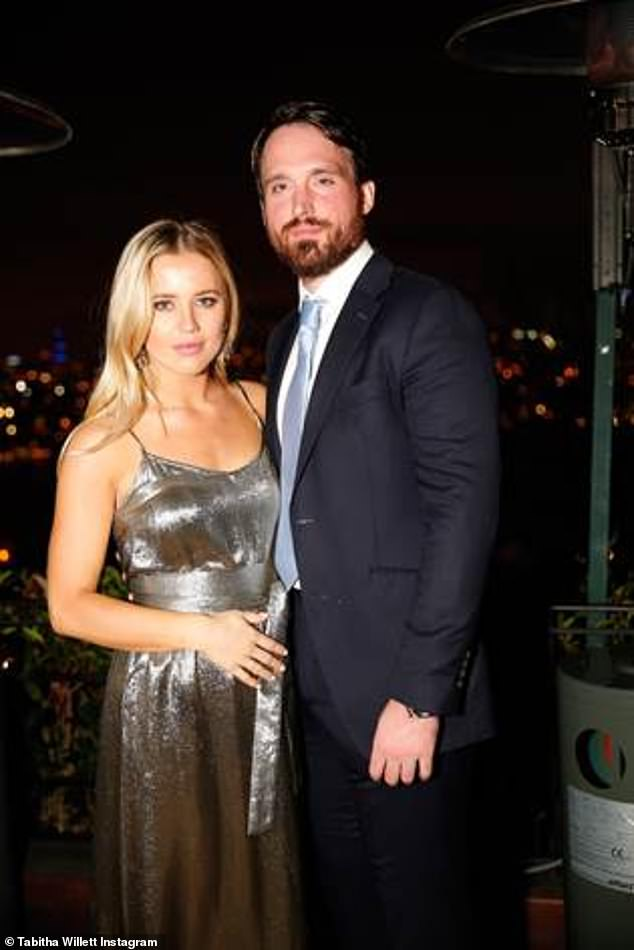 Moving on:Tabitha was originally set to exchange vows with Fraser at Fulham's Hurlingham Club in July in front of a host of celebrity guests (pictured in December 2018)