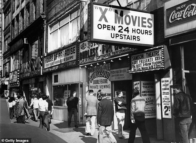 Before it was cleaned up: Times Square used to be quite seedy and was packed with strip clubs and porn shops