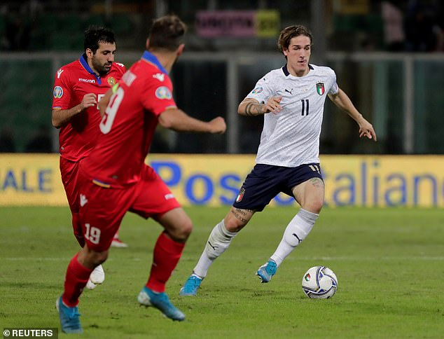 It is alleged that United has watched the 20-year-old attacking midfielder win Italy over Armenia
