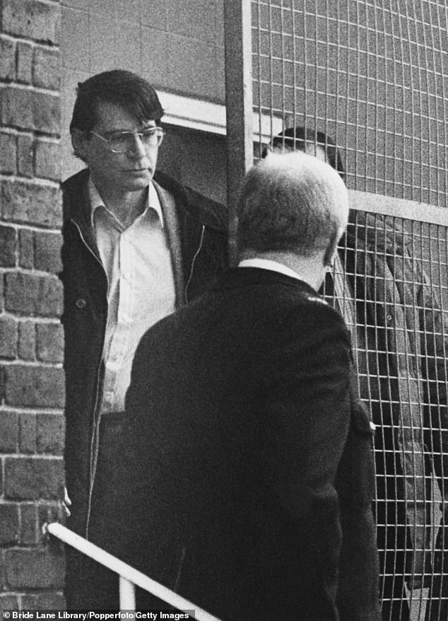 Shocking: Nilsen was convicted of six counts of murder and two of attempted murder and jailed for life in 1983 (pictured 1983)
