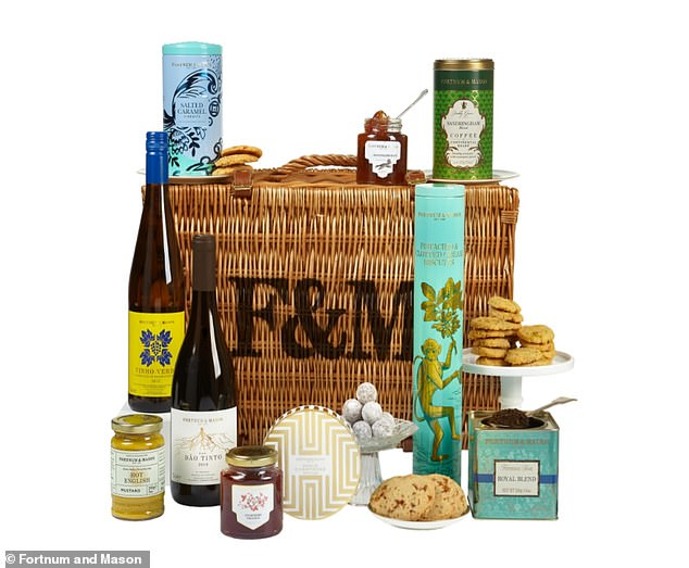 With decadent wine and two exclusive jars of preserves, made especially for the hampers, they're paired with Sandringham blended coffee and even some champagne truffles.