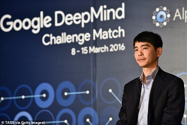 The firm is perhaps best known for its AlphaGo AI program that beat a human professional Go player Lee Sedol , the world champion, in a five-game match. Pictured,Go world champion Lee Sedol of South Korea seen ahead of the first game the Google DeepMind Challenge Match against Google's AlphaGo programme in March 2016