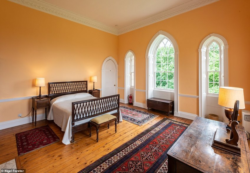 Clytha Castle is now a holiday rental and has three bedrooms with enough space to sleep up to six guests