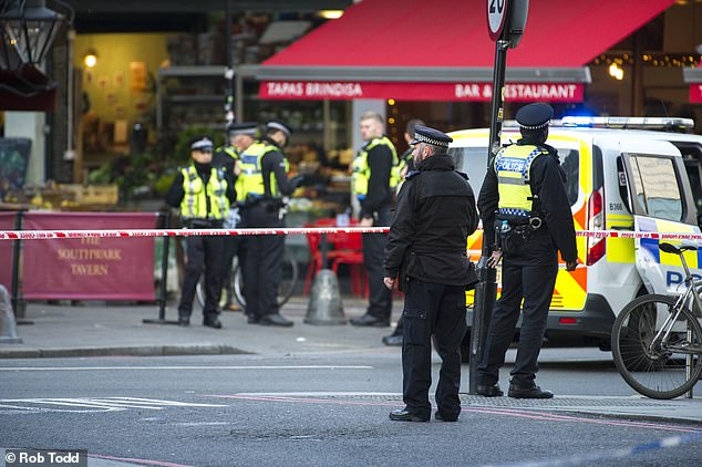 Armed police shot a man on London Bridge today in an incident Scotland Yard is treating as 'terror-related'.