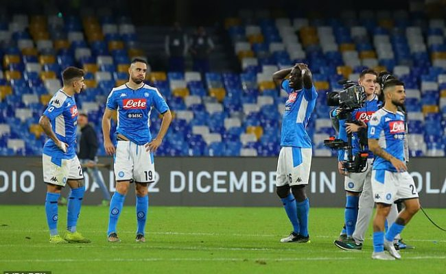 Napoli 1 2 Bologna Hosts Winless In Six Sportstoft
