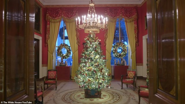 'The President and First Lady host dozens of events over the holiday season to include the delivery of the Christmas tree, Thanksgiving turkey pardon, special holiday tours for the public, and many holiday parties for military families, children, friends, White House staff, and the United States Secret Service,' White House press secretary Stephanie Grisham said
