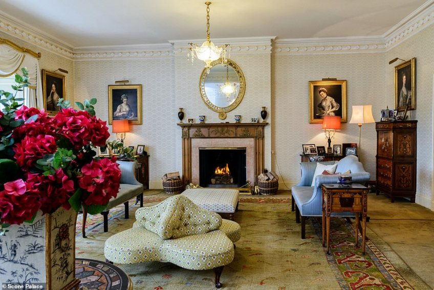 Scone Palace, which is set in 100 acres of land, boasts a private wing that is available to rent from £3,500 per night