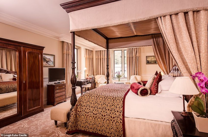 The castle is now a five-star hotel with 96 rooms over three floors. As this image shows, luxuriousness is the name of the game