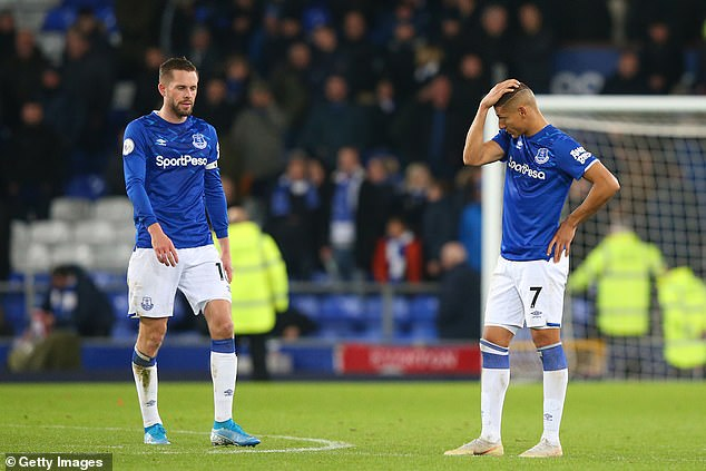 Everton sit just two points above the drop zone having won just once in their last five matches