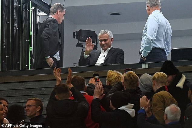 Mourinho received a warm reception from United fans at Old Trafford earlier this season