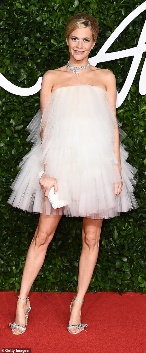 Volume: Poppy Delevingne (L) and Iris Law went for outfits with statement volume