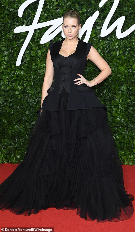And despite having acted as a clothes horse for the likes of Bvlgari, Lottie Moss missed the mark in an oversized black ballgown which swamped her petite frame
