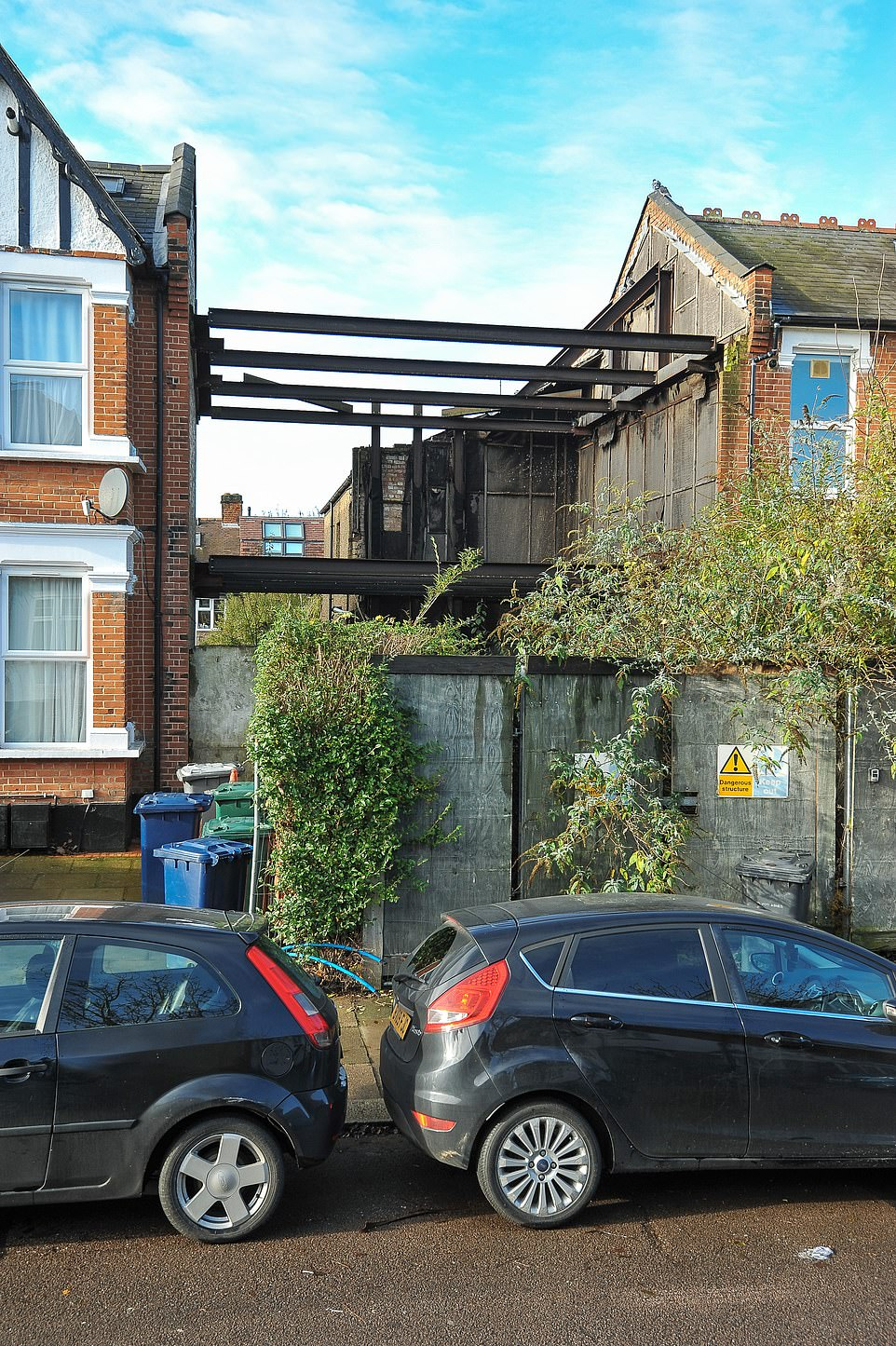 At the time Barnet Council declared the house a 'dangerous' structure that had to be demolished, along with everything inside, from precious photo albums including their first baby scan to family heirlooms