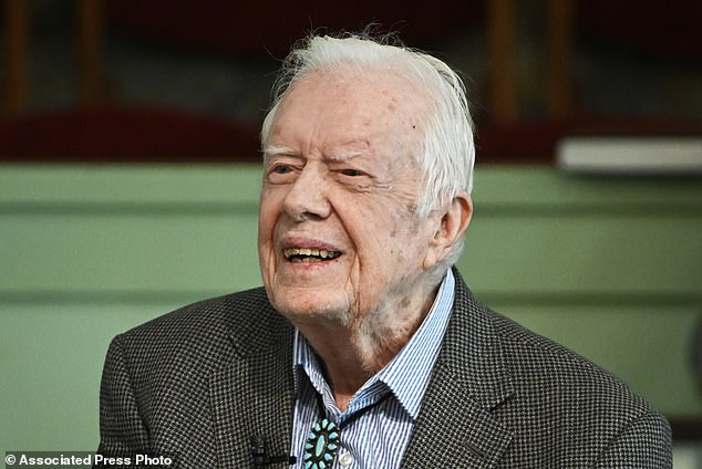 Former President Jimmy Carter, pictured in November,was admitted to a south Georgia hospital over the weekend for treatment of a urinary tract infection, a spokeswoman said