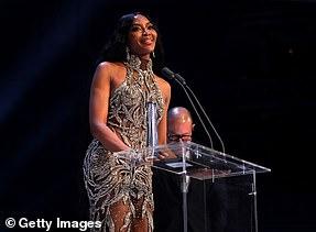 Winner: Naomi Campbell won the prestigious Fashion Icon award