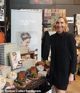 Teresa Cutter (pictured) has just launched her latest cookbook The Healthy Chef