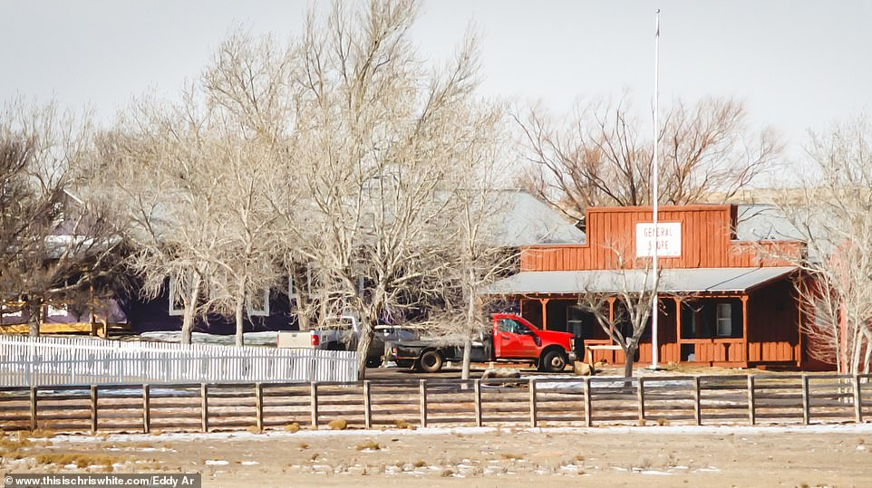 The family never stayed in the main house but bunked down in a special cowboy-themed village created by Epstein, which is a mile south of his own mountain-top villa