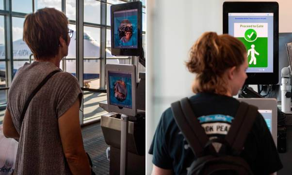 Image result for US homeland security to force all travelers to undergo face scans when leaving or entering the United States       ,   photos