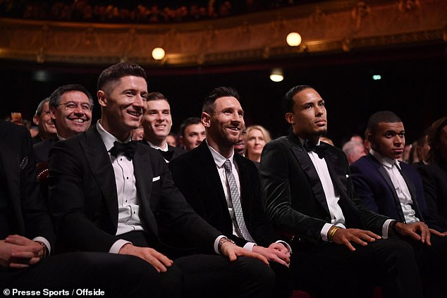 van Dijk finished second in this year's Ballon d'Or with Messi first and Ronaldo in third place