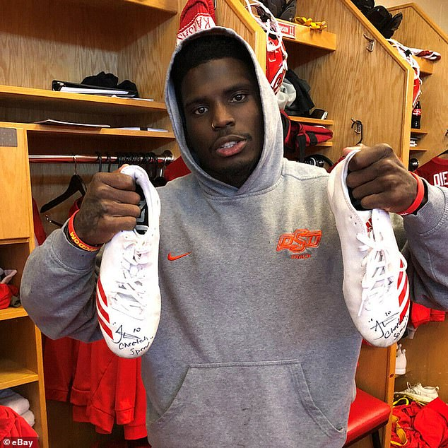 Something special: Kansas City Chiefs wide receiver Tyreek Hill signed a pair of Adidas