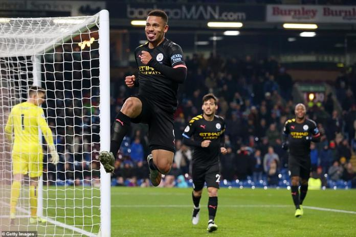 The 22-year-old showed his delight as he dashed off to celebrate the goal while chased by Silva and Raheem Sterling