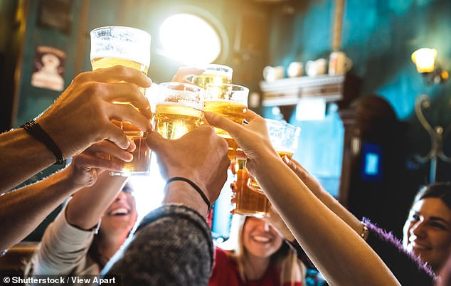 Building up a tolerance for alcohol may have been crucial in allowing human ancestors to survive, scientists claim (stock image)