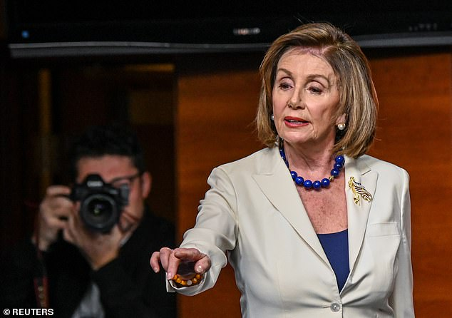 House Speaker Nancy Pelosi ordered Democrats on Thursday to start drafting articles of impeachment against Trump; Cipollone's letter criticized that decision as rash, since the Judiciary Committee hasn't yet met to hear evidence