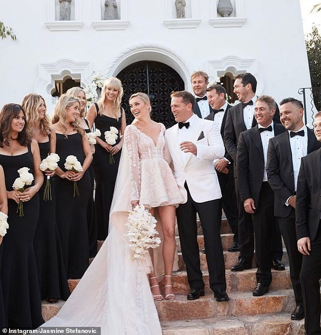 Throwback: Karl and Jasmine tied the knot in December 2018, saying 'I do' at the five-star One&Only Palmilla resort inSan José del Cabo