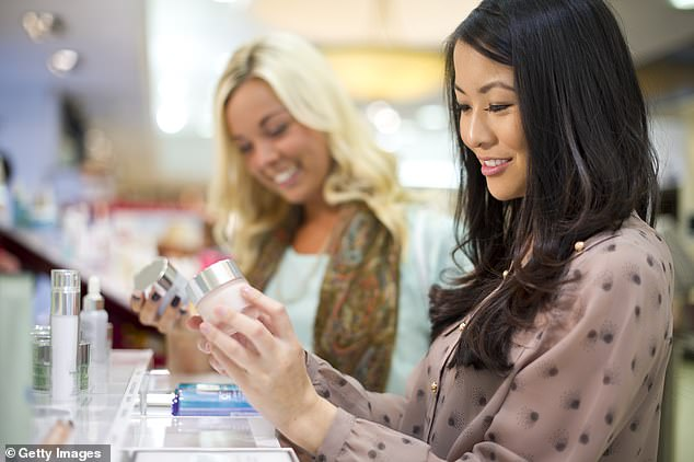 Buying cosmetics inside the terminal may not be any cheaper than shopping the makeup counter at Mecca, but airport outlets often sweeten the deal with free samples (stock image)
