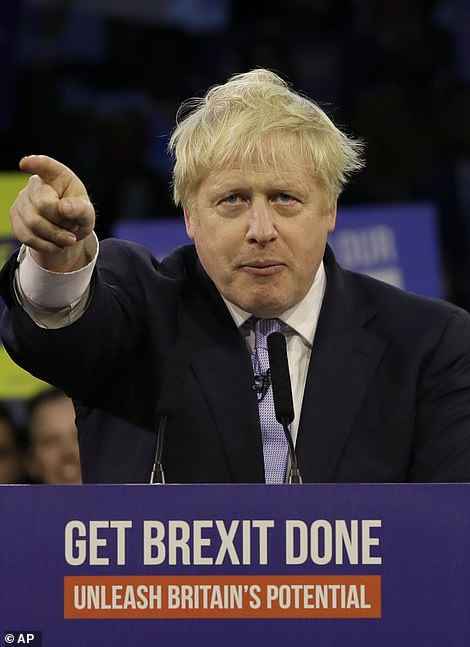 Boris Johnson in London on the last day of the campaign