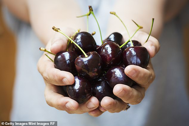 Cherries contain antioxidants like anthocyanins, which work alongside melatonin to help you maintain a deeper sleep for longer. Pictured: stock image