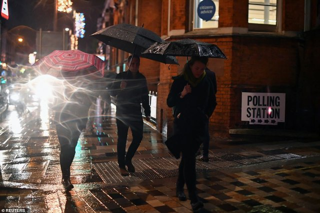 Voters have turned out in their droves this evening, despite the inclement weather. A 'mega' turnout is expected today, with both parties predicting it to play in their favour