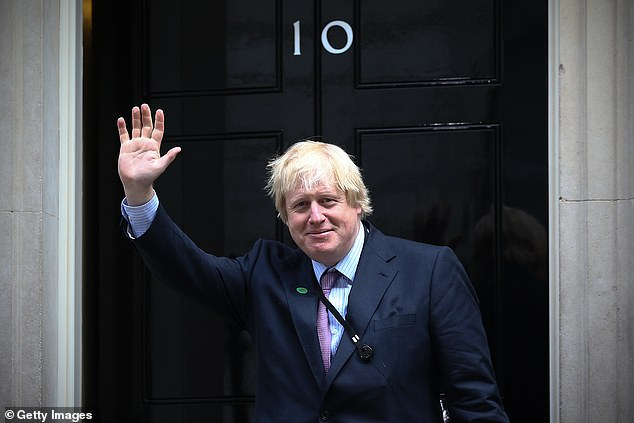 Mayor: Johnson, then Mayor of London and MP for Uxbridge and South Ruislip at Downing Street on May 11, 2015 - some four years later it would become his home