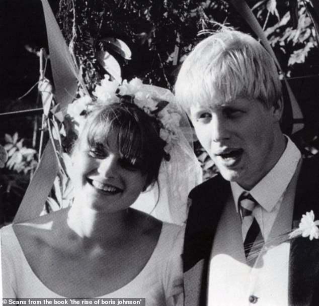 Mr Johnson – who once dismissed reports of his cheating as 'an inverted pyramid of piffle' – married Oxford University sweetheart Allegra Mostyn-Owen in 1987 (pictured), but they divorced in 1993 after he cheated on her with Marina