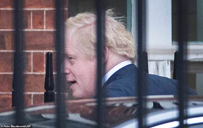 Boris Johnson (pictured at Downing Street today) is welcoming 109 new Tory MPs to Westminster with a message that addressing voters' concerns now could see the Tories win a record fifth term in 2024