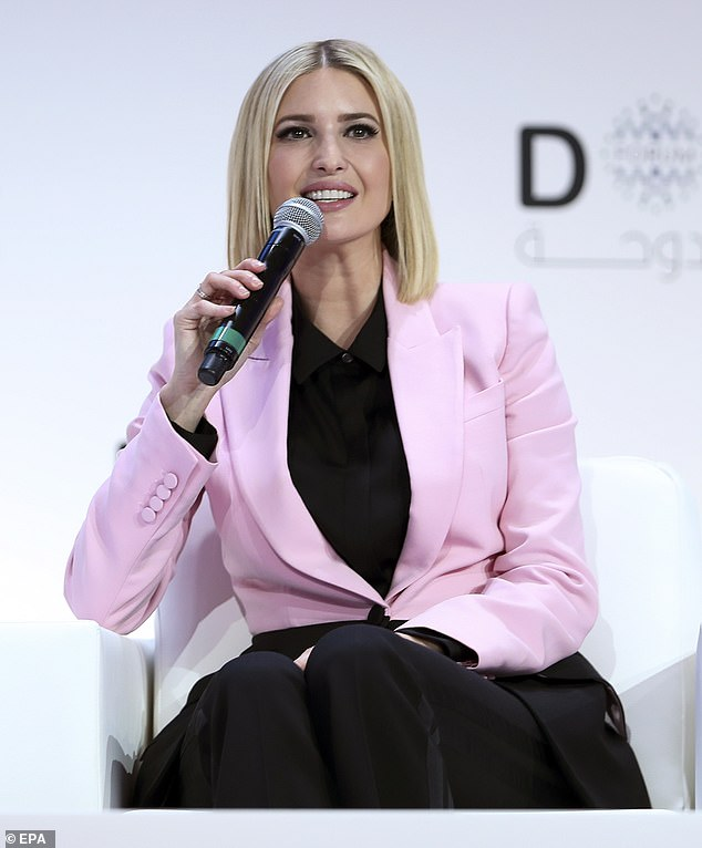 Ivanka traveled to the Middle East in order to take part in the Doha Forum, where she wowed in a pretty pink blazer